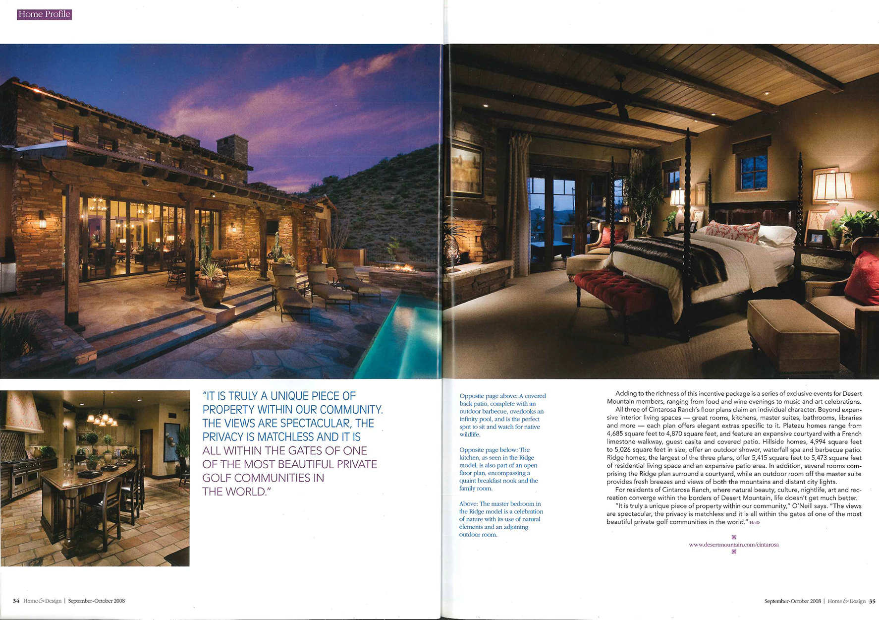 Arizona Home  & Design, Desert mountain article