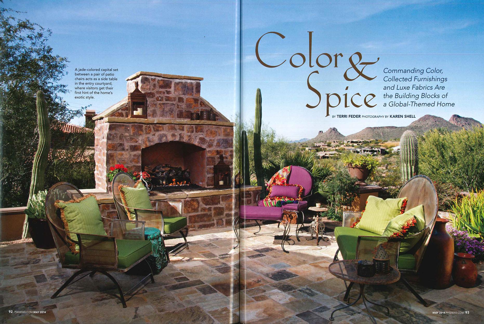 Phoenix Home & Garden, Fire Rock article