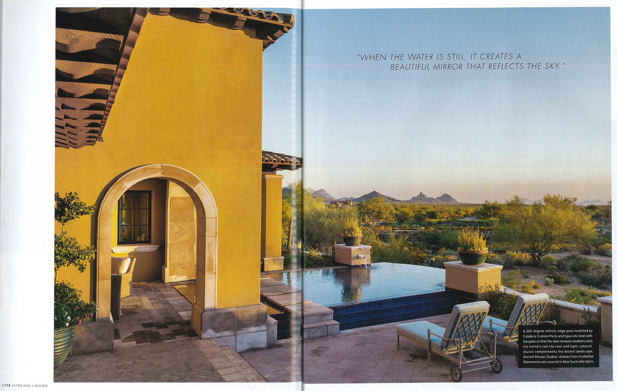 Custom home of the year, desert flair article