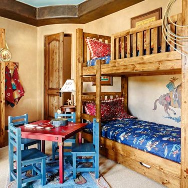 Hand Painted Bunk Room