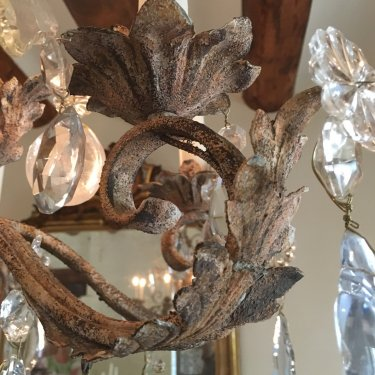 Distressed Finish on Chandelier