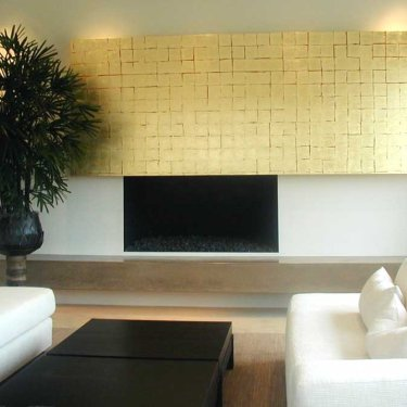 Gold Leaf Fireplace Face