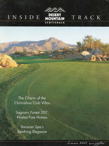 Inside Track - Summer 2003; Desert Mountain in Scottsdale