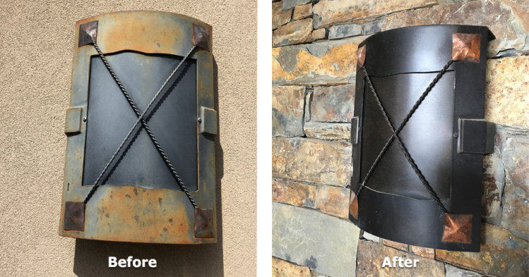 Metal Outdoor Sconce