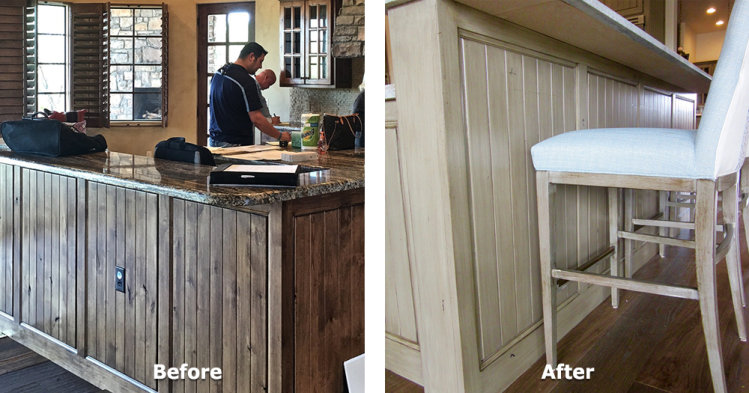Kitchen Island Cabinet Refurbish - 2