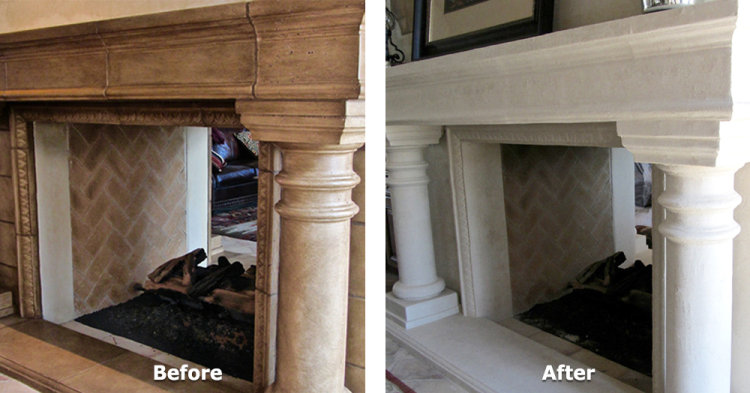 Precast Fireplace with Columns