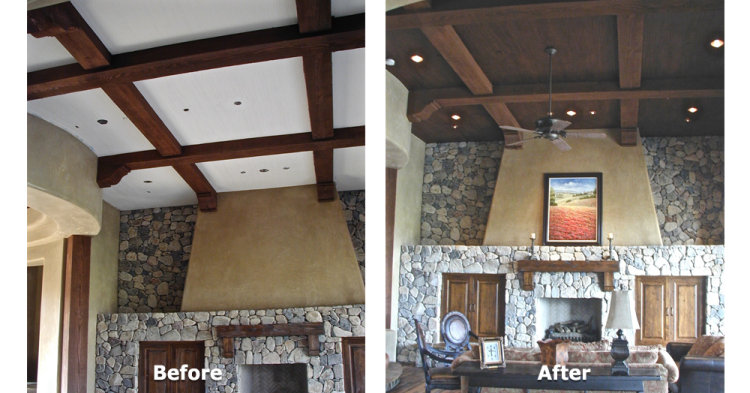 Faux Wood Ceiling